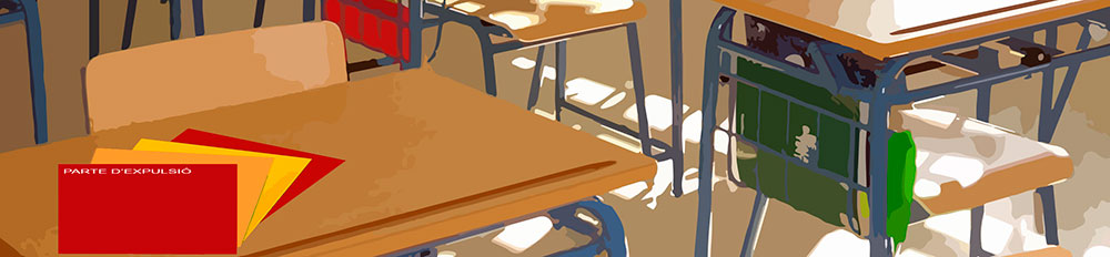 Some chairs in a classroom.