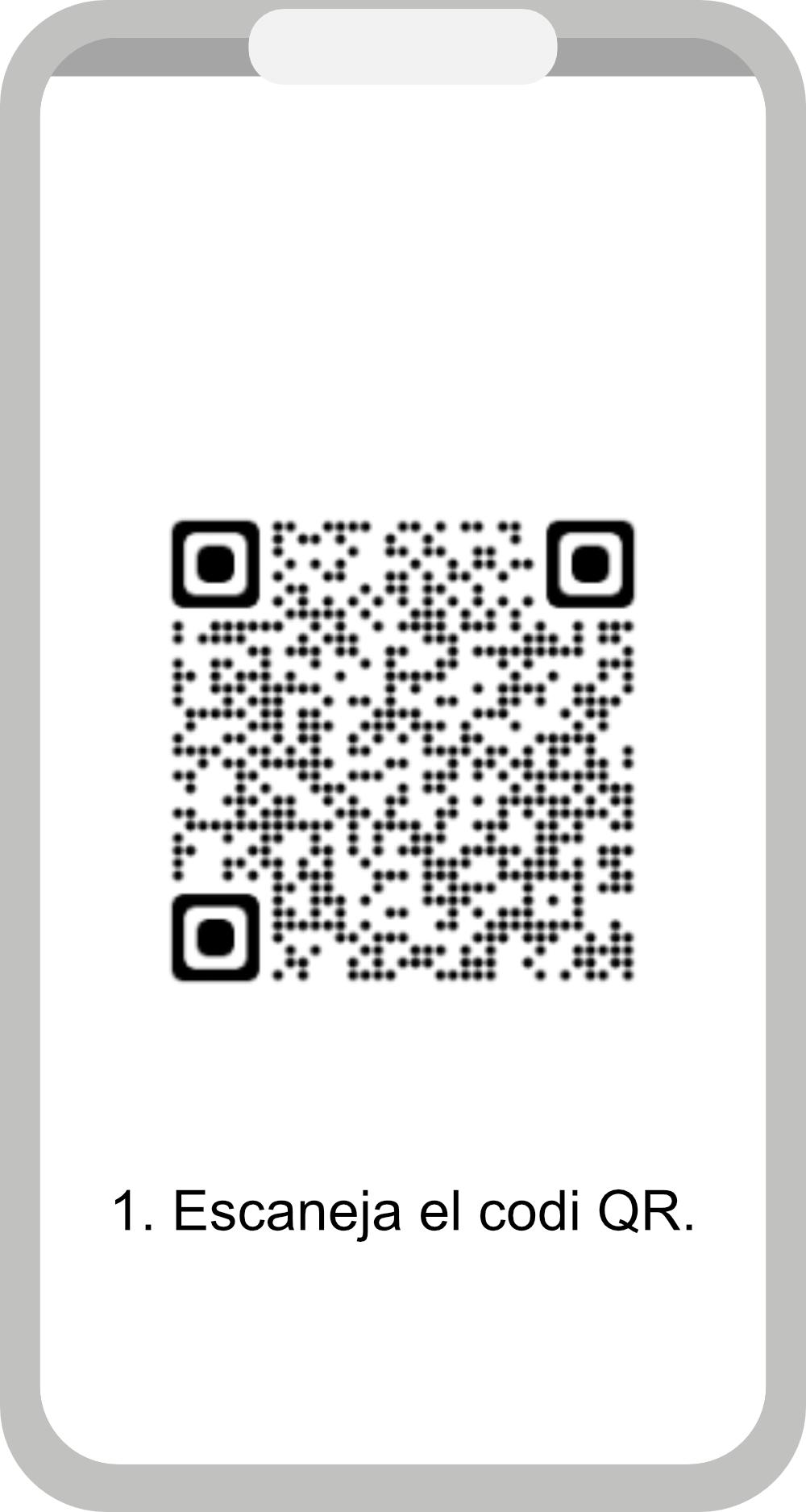 1. Escanegeu el codi QR