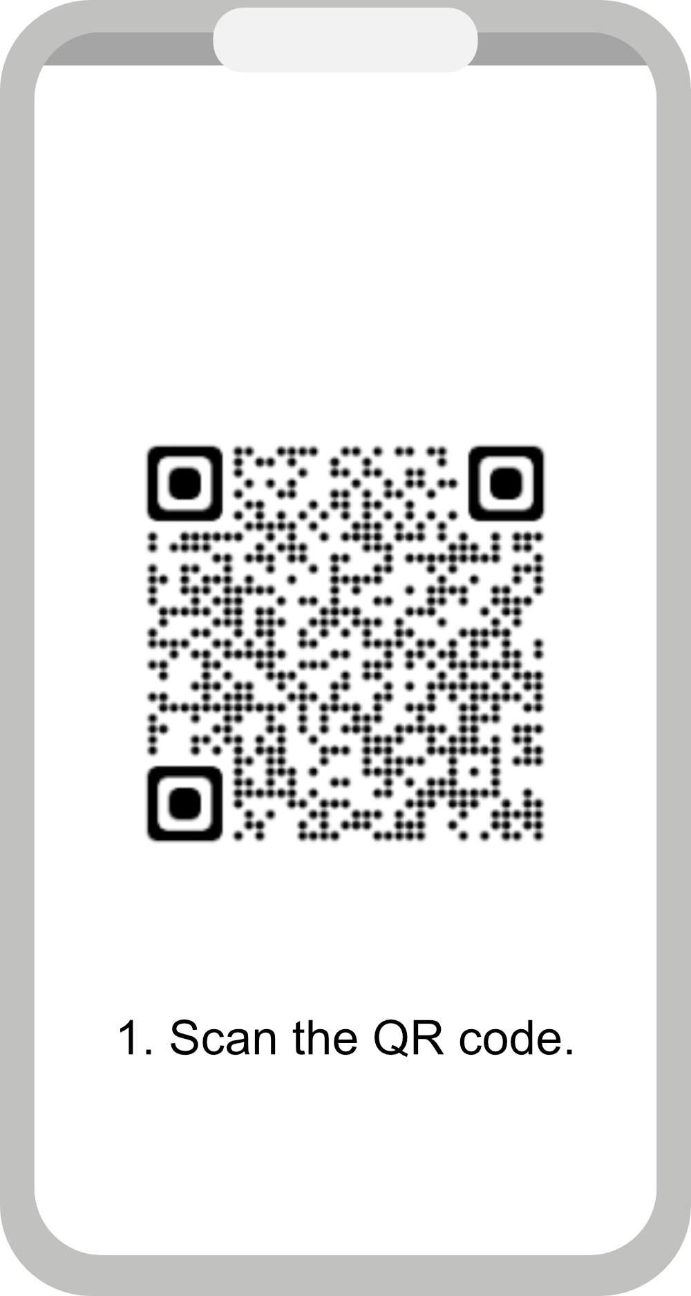 1. Scan the QR code