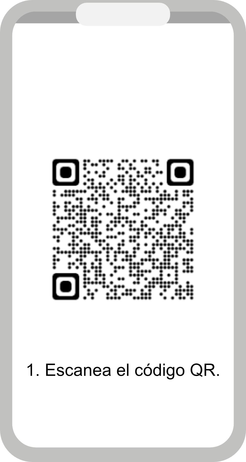 1. Escanee el código QR