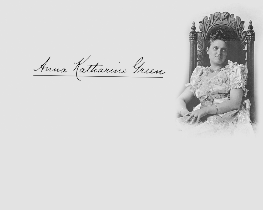 Amelia Butterworth sitting with a book in her hands.