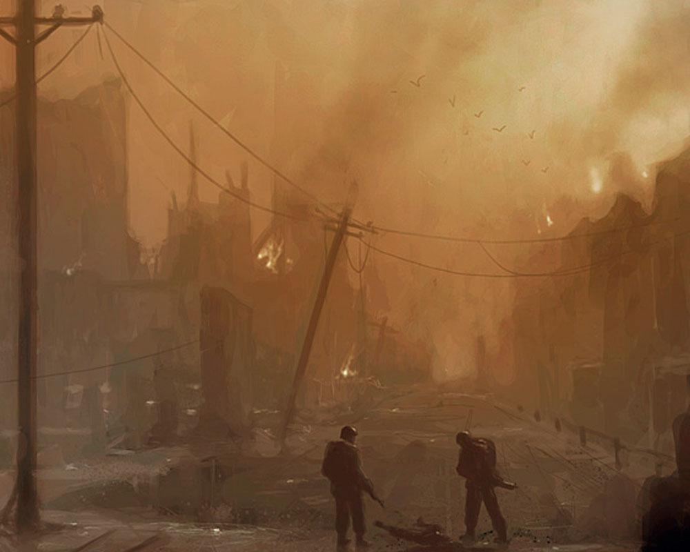 A Scene of a War That Destroys Children's Lives