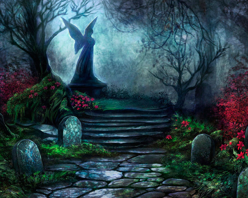 A lonely and peaceful cemetry.